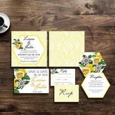 "Wedding Invites☆Graphic Print (@azettadesignstudio) on Instagram ""The island girl in me is craving some passionfruit juice on this hot summer day. New wedding invites. Email to order now."