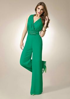 Cool, green jumpsuit.