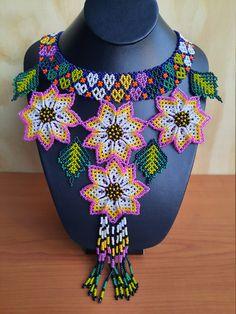 Boho Necklace, Boho Jewelry, Beaded Jewelry, Crochet Necklace, Handmade Necklaces, African Fashion, Beautiful Necklaces, Hippie Boho, Necklace Lengths