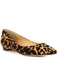 Tizzy - Brown Multi Pony  Price: $119.99  The Ivanka Trump Tizzy is anything but fussy. This easy to wear flat fits perfectly at work and everyday with its leopard printed upper and pointed toe. A barely there 1/2 inch heel adds the final touch.