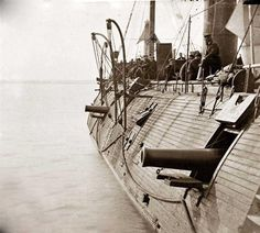 This is a picture of the USS Galena. The picture was taken in about 1862. The USS Galena was a state-of-the-art ironclad Warship. Creation of such ironclad ships in the Civil War changed the balance of power in the world, as it made virtually obsolete the entire British Navy, which had dominated the seas for many years.
