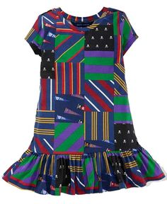 NWT Ralph Lauren Girls Allover Patchwork Printing Equestrian Dress Size 4T #RalphLauren #DressyEveryday