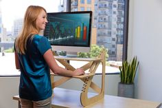 Readydesk: Ultra-affordable, Dual-Adjustable Standing Desk by Ben Larson & Joe Nafziger — Kickstarter