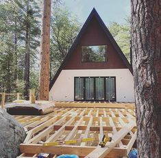 Trio 120, Idllwilld-Pine Cove, USA A Frame House, Affordable Housing, Kit Homes, Home Fashion, Pine, Usa, House Styles, Cabins, Building