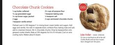 Chocolate Chunk Cookies, Granulated Sugar, Baking Soda, Vanilla, Butter, Book, Books, Libros, Book Illustrations