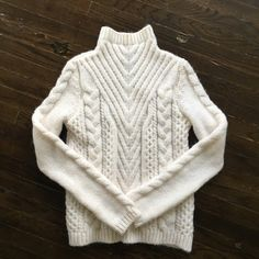 Zara Knit Sweater Super cute zara cream knit sweater with turtle neck. Very soft and comfy. Brand new with tag never worn. Fits a little big on me. Size Medium. Zara Sweaters Cowl & Turtlenecks