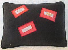 black/red Talbots 12x16 pillow