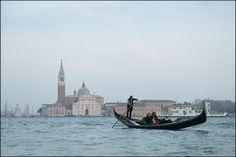 gondola and Chiesa di San Giorgio Maggliore/Venice,Italy/20150214