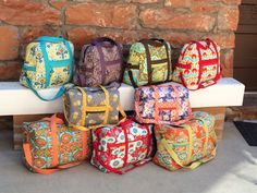 Patterns by Annie Carry On! Travel Bag, Travel Duffle Bag, and Get Out of Town Bag.
