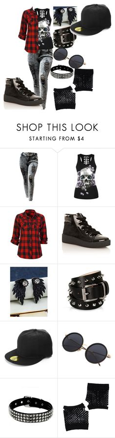 """Kris"" by jubileex-girl on Polyvore featuring WithChic, Full Tilt, MTNG, Barbara Bui and Forever 21"