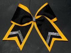 """3"""" Texas Size Cheer bow - double layer - trimed ends -  squad discounts"""