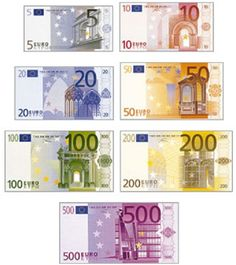 Twinkl Resources  Euro Money CutOuts  Classroom printables