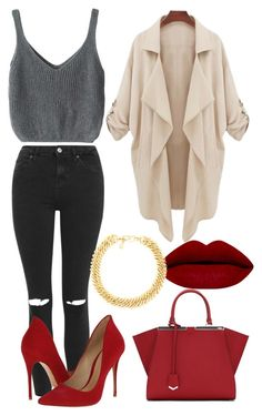 """""""Untitled #112"""" by victorine-b ❤ liked on Polyvore featuring Topshop, Fendi, Schutz, Yves Saint Laurent, women's clothing, women's fashion, women, female, woman and misses"""