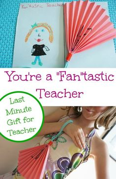 Super simple last minute teacher gift that kids can make. Is your child your teacher's number 1 fan? Easy craft for kids.