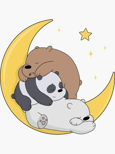"""We Bare Bears"" Sticker by ValentinaHramov Cute Panda Wallpaper, Cartoon Wallpaper Iphone, Bear Wallpaper, Cute Disney Wallpaper, Cute Wallpaper Backgrounds, We Bare Bears Wallpapers, Panda Wallpapers, Cute Cartoon Wallpapers, Simple Wallpapers"