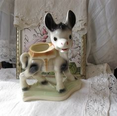 Vintage Donkey Planter  Balky the Mule  Rempel by mirabellamorello