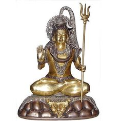 Amazon.com: Meditation Statue of God Shiva Brass Hindu Sculpture 7.75 X 5.25 X 10.25 Inches: Home & Kitchen