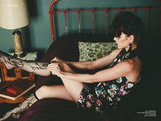 Minx - Photographed by Jennifer Skog. Model Ellen Hancock at Cast Images. Hair and Makeup Lindsay Skog, PMA. Styling Alanna Anderson. Shot on location at The Burlington Hotel in Port Costa.