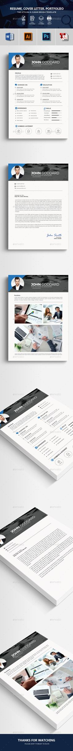 simple creative CV Resume Stationery template design