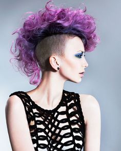 Good-looking purple mohawk! Credits to come. #hotonbeauty hotonbeauty.com #mohawk #purplehair