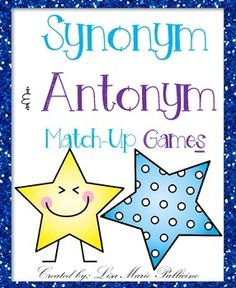 Your students will love this memory styled match-up game! Students can play independently, at small group or with a partner! Included in this game pack are:Synonym Match-Up Game CardsAntonym Match-Up Game CardsSynonym & Match-Up Mixed Game Cards