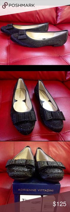 Adrienne Vittadini - Satin Black Dali pump Brand new in box Adrienne Vittadini Shoes Moccasins