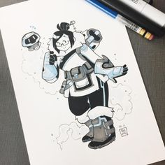 Inktoberwatch Day 11! She's a-MEI-zing~ Edit: Also! Forgot to mention I've been uploading progress pics every so often on my Instagram story, so if you have Instagram check it out! :)