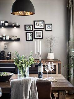 Gri, rustic și scandinav într-un apartament de 83 m² / Jurnal de design interior Farmhouse Style Kitchen, Country Farmhouse, Diy Kitchen, Scandinavian Interior Design, Unique Wall Decor, Home Room Design, Home And Deco, Cool Walls, Home And Living