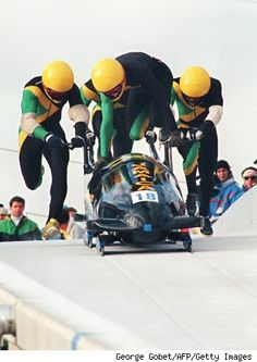It's been 30 years since the Jamaican bobsled team's fish-out-of-water debut at the Calgary Games. Back then, for tropical countries to compete in the Winter Olympics was rare, if not unheard of. Bobsleigh, Calgary, Sports Personality, Olympic Athletes, Winter Games, Team S, Winter Olympics, Olympians, Olympic Games