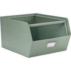 A sea green metal storage box by KIDSDEPOT to tidy your room amd stuff. The storage boxes are stackable, choose your favourite colours and mix them. Stackable Storage Boxes, Storage Bins, Utility Closet, Grey Room, Toddler Rooms, Kids Corner, Garage Organization, Metal Box, Creative Thinking