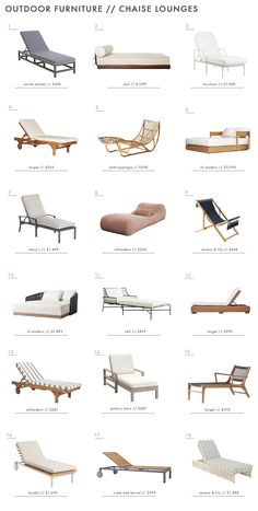 From sofas and coffee tables to dining chairs and chaise lounges, we rounded up 135 of our favorite outdoor furniture picks on the market right now. Pool Lounge Chairs, Patio Chairs, Outdoor Chairs, Chaise Lounge Outdoor, Dining Chairs, Pool Furniture, Outdoor Furniture, Furniture Sets, Outdoor Side Table