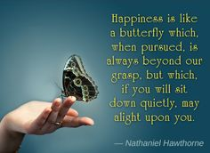 Hawthorne Butterfly Quote