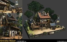 『 3D배경과정 - inventor_house - LYH 』