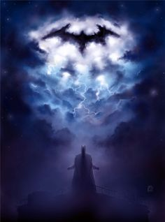A Storm Approaches – The Dark Knight Fan Art, #Batman, #FanArt, #Movies & #TV, #Paintings & #Airbrushing, #Superhero