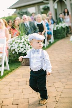 Kiss My Tulle // Flower Girl + Ring Bearer The ring bearer wears blue seersucker accessories and boa Wedding Outfit For Boys, Wedding With Kids, Wedding Wear, Wedding Attire, Wedding App, Spring Wedding, Dream Wedding, Wedding Dresses, Tanzanite Engagement Ring