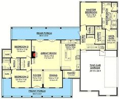 Three Bed Farmhouse with Optional Bonus Room - 51758HZ | 1st Floor Master Suite, Bonus Room, Butler Walk-in Pantry, CAD Available, Country, Farmhouse, PDF, Split Bedrooms | Architectural Designs