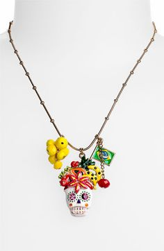 DIA DE LOS MUERTOS/DAY OF THE DEAD~Betsey Johnson Necklace