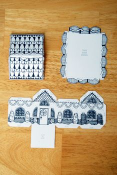 white printed house #2