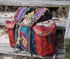 Guadalupe gypsy military backpack boho bag
