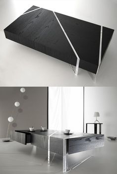 Low rectangular coffee #table KRISTAL by Turriniby | #design Erwan Peron @TurriniBY