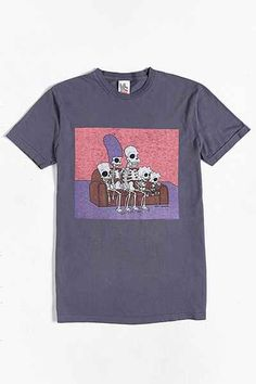 Junk Food The Simpsons Skeletons Tee - Urban Outfitters
