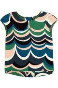 M Missoni. Printed woven-cotton top