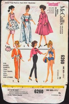 Herbie's Doll Sewing, Knitting & Crochet Pattern Collection: Vintage doll clothing