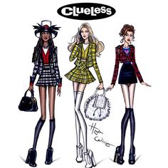 The Clueless crew (Dionne, Cher, and Tai) by Hayden Williams