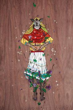 Diske Uno es un artista gráfico de Culiacán, Sinaloa con más de 5 años en el arte urbano. Su trabajo habla sobre las culturas indígenas de México, especi