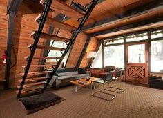 Black and Tan - House Tour: 1969 California A-Frame Updated for Today - Bob Vila