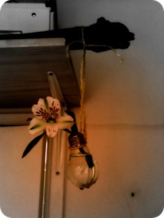 vase made out of an old light bulb