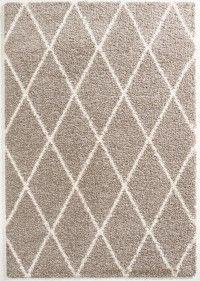 Vintage Teppich Patchwork Gelb-Braun gemustert 080x150 cm, Frisee ...