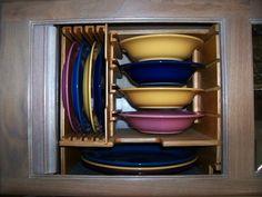 rv+dish+storage | Dish Storage in Motorhome