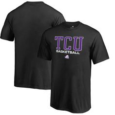 pretty nice c6bb8 23e6f TCU Horned Frogs Fanatics Branded Youth True Sport Basketball T-Shirt –  Black